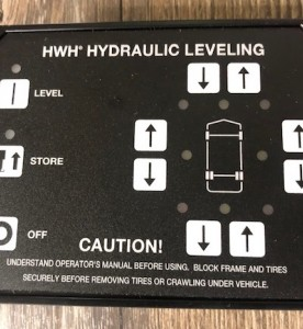 This is a photo of a HWH Control Touch Pad #RAP90938.